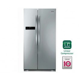 FRIGORIFERO LG SIDE BY SIDE GSB325PVQV 572 L INOX INVERTER TOTAL NO FROST DISPLAY SOFT TOUCH LED CONGELAMENTO RAPIDO REFURBISHED CLASSE A+