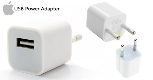 CARICABATTERIE / ADATTATORE ORIGINALE APPLE A1385 BIANCO 5 V 1 A PER IPHONE E IPOD