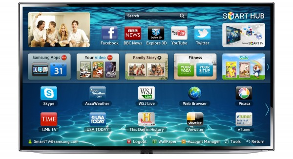 "TV 55"" SAMSUNG UE55ES6300 LED SERIE 6 FULL HD SMART WIFI 3D 200 HZ DOLBY DIGITAL PLUS USB HDMI SCART REFURBISHED CLASSE A+"