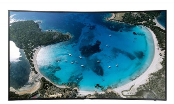 """TV 55"""" SAMSUNG UE55H8000 LED SERIE 8 CURVO FULL HD 3D SMART 1000 HZ WIFI USB HDMI REFURBISHED SENZA BASE CON STAFFA A MURO IN OMAGGIO"""