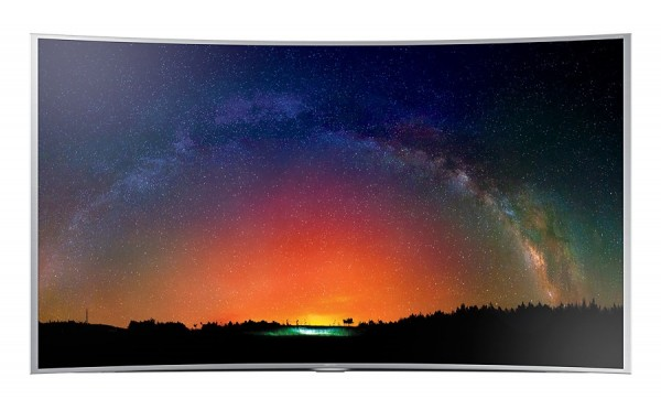 "TV 65"" SAMSUNG UE65JS9000 LED SERIE 9 CURVO SUHD 4K 3D SMART WIFI 2000 PQI USB HDMI SILVER / INOX REFURBISHED SENZA BASE CON STAFFA A MURO"