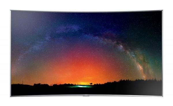 "TV 78"" SAMSUNG UE78JS9500 LED CURVO SUHD 4K SMART WIFI 3D 2400 PQI USB WEBCAM HDMI USB SILVER / INOX REFURBISHED SENZA BASE CON STAFFA A MURO"