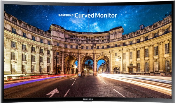 "MONITOR 27"" SAMSUNG LC27F396FHUXEN LED CURVO FULL HD HDMI NERO REFURBISHED SENZA BASE"