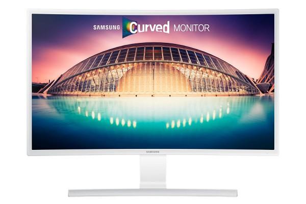 """MONITOR SAMSUNG 27"""" LS27E591 / S27E591C LED CURVO BIANCO HDMI ALTOPARLANTI INTEGRATI REFURBISHED COMPATIBILE CON WINDOWS E MAC"""