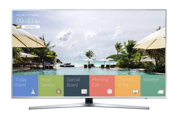 "SMART HOSPITALITY TV 65"" SAMSUNG HG65EE890UB LED SERIE 890 4K ULTRA HD WIFI USB HDMI HOTEL TV REFURBISHED ARGENTO"