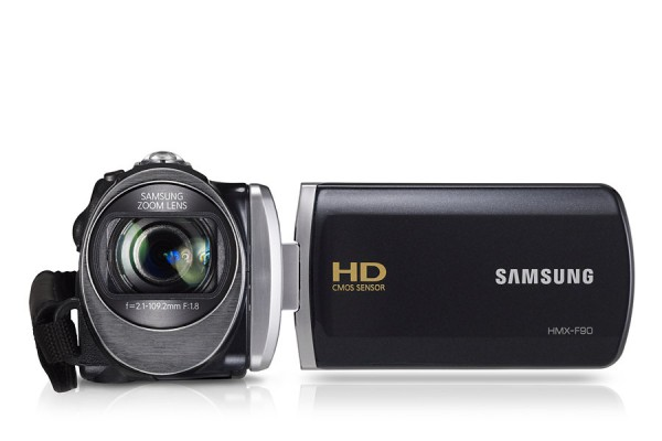 "VIDEOCAMERA SAMSUNG HMX F90BP 5 MP ZOOM OTTICO 52x ZOOM DIGITALE 130x DISPLAY 2,7"" REFURBISHED NERA"
