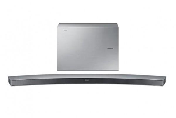 SOUNDBAR CURVA SAMSUNG HW J6501 300 W 6.1 CANALI WIRELESS 3D VIDEO PASS 4 MODALITÀ DI SUONO BLUETOOTH USB HOST HDMI REFURBISHED SILVER