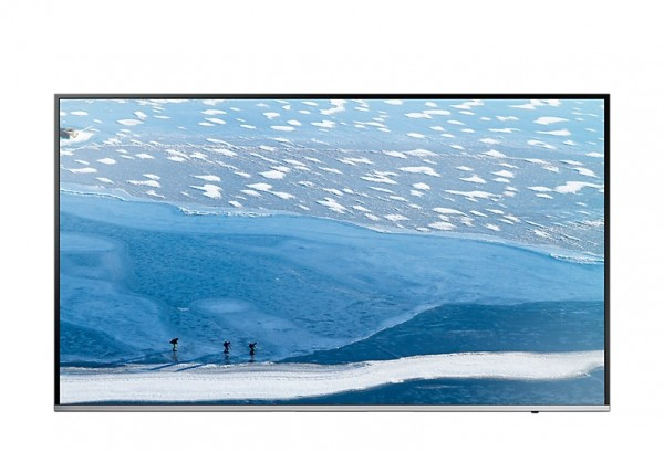 "TV 43"" SAMSUNG UE43KU6400 LED SERIE 6 4K ULTRA HD SMART WIFI 1500 PQI USB HDMI SILVER / INOX REFURBISHED SENZA BASE CON STAFFA A MURO"