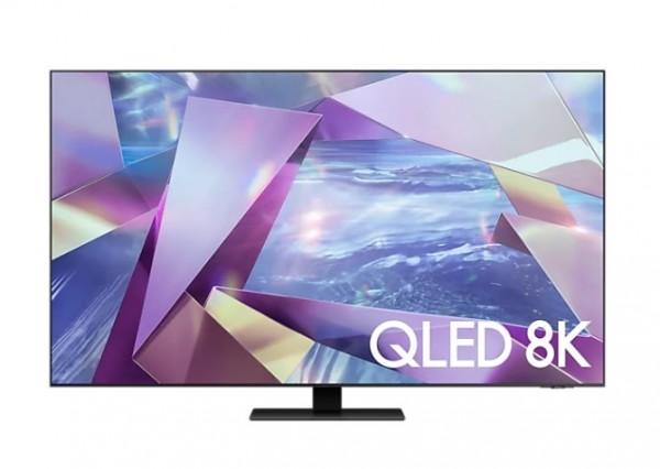 """TV 55"""" SAMSUNG QE55Q700TAT QLED SERIE 7 2020 8K SMART WIFI 3700 PQI USB HDMI REFURBISHED TITAN BLACK"""