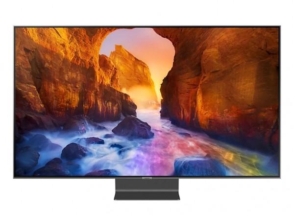 """TV 55"""" SAMSUNG QE55Q90RAT QLED Q90R 2019 4K UHD SMART WIFI 4000 PQI USB HDMI REFURBISHED CARBON SILVER"""