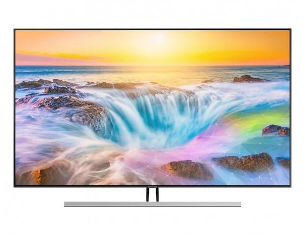 """TV 55"""" SAMSUNG QE55Q85RAT QLED SERIE 8 Q85R 2019 4K UHD SMART WIFI 3800 PQI HDMI USB REFURBISHED CARBON SILVER"""