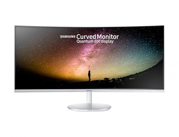 "MONITOR 34"" SAMSUNG LC34F791WQU LED CURVO 21:9 UWQHD HDMI HUB USB REFURBISHED BIANCO"