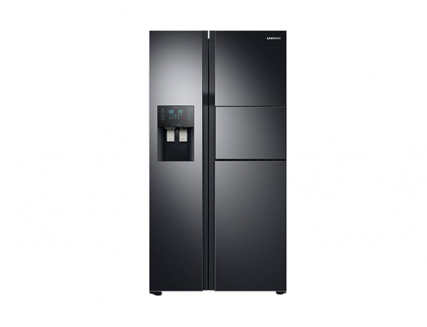 FRIGORIFERO SAMSUNG SIDE BY SIDE RS51K57H02C 560 L NERO DISPENSER ACQUA E GHIACCIO NO FROST DIGITAL INVERTER LIBERA INSTALLAZIONE REFURBISHED CLASSE A+