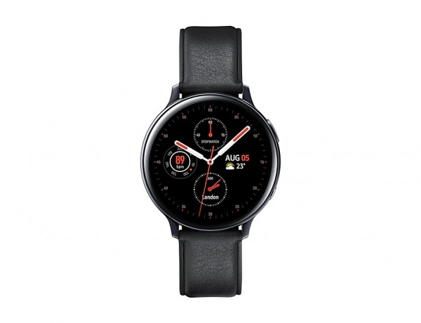 "SMARTWATCH SAMSUNG GALAXY WATCH ACTIVE2 44 MM STAINLESS STEEL SM R820 1.4"" SUPER AMOLED 4 GB DUAL CORE WIFI BLUETOOTH REFURBISHED NERO"