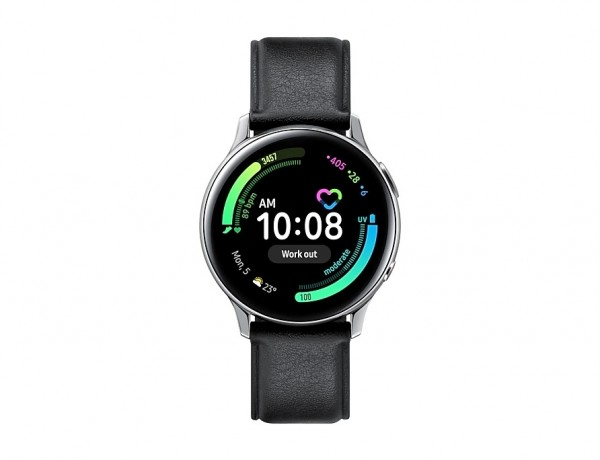 """SMARTWATCH SAMSUNG GALAXY WATCH ACTIVE2 40 MM STAINLESS STEEL SM R835 1.2"""" SUPER AMOLED 4 GB DUAL CORE LTE WIFI BLUETOOTH REFURBISHED SILVER"""