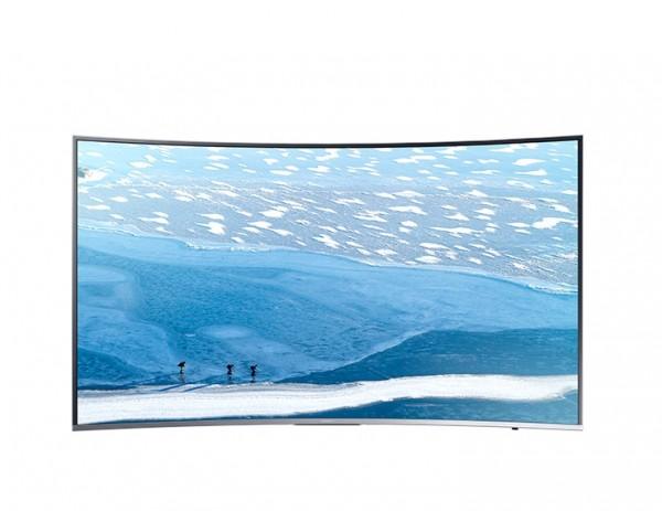 "TV 49"" SAMSUNG UE49KU6500 LED SERIE 6 CURVO 4K ULTRA HD SMART WIFI 1600 PQI HDMI USB SILVER / INOX REFURBISHED SENZA BASE CON STAFFA A MURO"