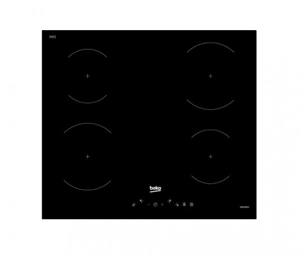 PIANO COTTURA BEKO HII 64401 GT INDUZIONE 60 CM 4 FUOCHI 9 LIVELLI DI COTTURA VETRO NERO GARANZIA UFFICIALE