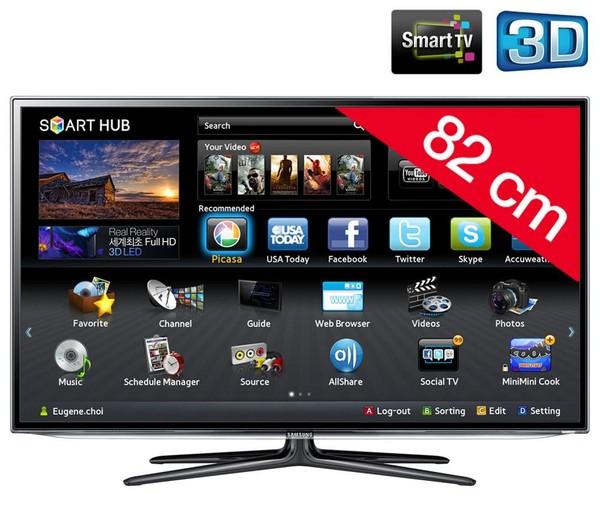 "TV 32"" SAMSUNG UE32ES6300 LED SERIE 6 FULL HD 3D SMART WIFI DOLBY DIGITAL PLUS HDMI USB SCART REFURBISHED 200 HZ"