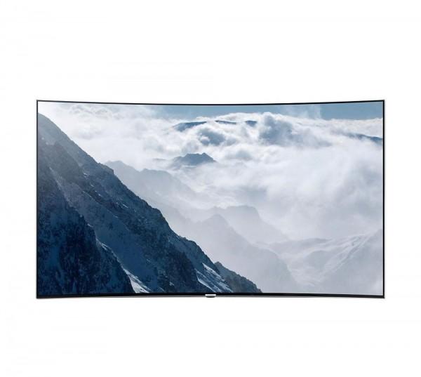 """TV 55"""" SAMSUNG UE55KS9000 LED SERIE 9 CURVO SUHD 4K SMART WIFI 2400 PQI HDMI USB SILVER REFURBISHED SENZA BASE CON STAFFA A MURO IN OMAGGIO"""