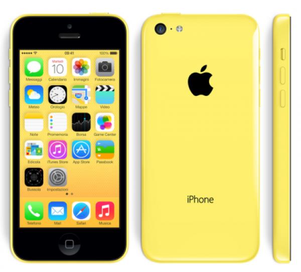 SMARTPHONE APPLE iPhone 5C 16GB LTE iOS 7 WiFi FOTOCAMERA 8 MPX REFURBISHED YELLOW