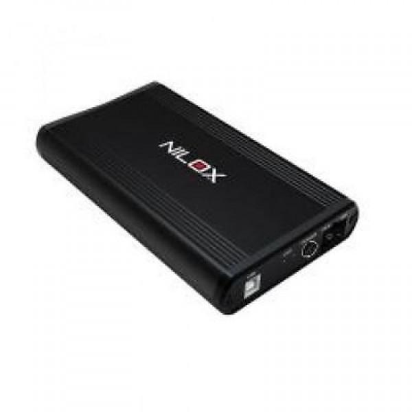 "HARD DISK NILOX SATA HDD 3,5"" DH2311ER-B 1 TB USB EXTERNAL NERO REFURBISHED WINDOWS MAC"