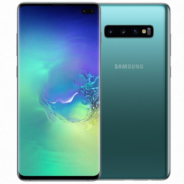 "SMARTPHONE SAMSUNG GALAXY S10 PLUS SM G975F 128 GB DUAL SIM 6.4"" 4G LTE WIFI 12 + 16 + 12 MP OCTA CORE REFURBISHED PRISM GREEN"