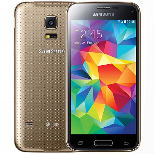 "SMARTPHONE SAMSUNG GALAXY S5 MINI DUOS SM G800H 16 GB QUAD CORE 4,5"" SUPER AMOLED WIFI 8 MP REFURBISHED GOLD"