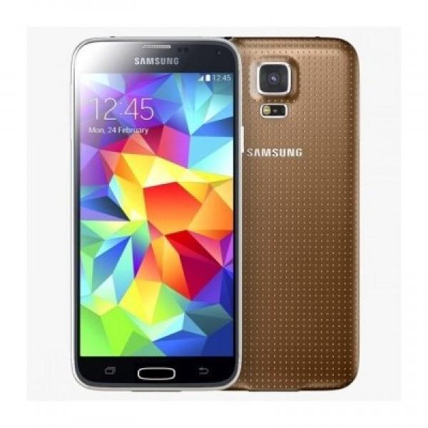 SMARTPHONE SAMSUNG GALAXY S5 MINI SM G800F 16 GB QUAD CORE 4G LTE WIFI 8 MP SUPER AMOLED GPS ANDROID REFURBISHED ORO