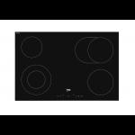 PIANO COTTURA BEKO HIC84401 INDUZIONE 80 CM 4 FUOCHI 9 LIVELLI DI COTTURA VETROCERAMICA NERO GARANZIA UFFICIALE
