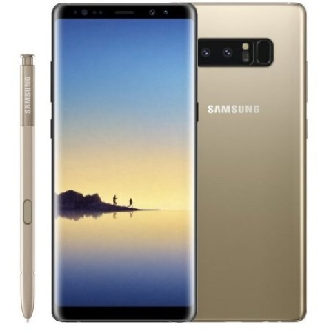"SMARTPHONE SAMSUNG GALAXY NOTE 8 SM N950F 6.3"" DUAL EDGE SUPER AMOLED 64 GB OCTA CORE 4G LTE WIFI 12 MP + 12 MP ANDROID REFURBISHED GOLD"