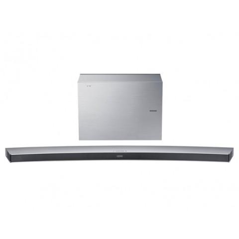 SOUNDBAR CURVA SAMSUNG HW J7501R 320 W 4.1 CANALI WIRELESS 3D VIDEO PASS 5 MODALITÀ DI SUONO BLUETOOTH USB HOST HDMI REFURBISHED SILVER