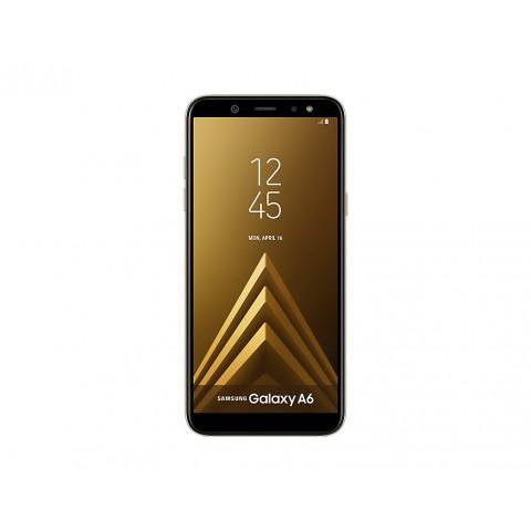 "SMARTPHONE SAMSUNG GALAXY A6 SM A600F DUAL SIM 32 GB OCTA CORE 5.6"" SUPER AMOLED 16 MP 4G LTE WIFI BLUETOOTH ANDROID REFURBISHED GOLD"