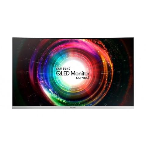 "MONITOR CURVO 32"" SAMSUNG LC32H711QEUXEN CH711 QLED WQHD HDMI SILVER REFURBISHED SENZA BASE CON STAFFA A MURO"