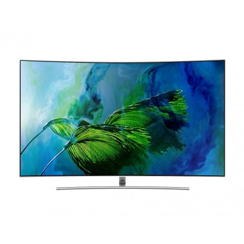 "TV 55"" SAMSUNG QE55Q8CAMT QLED SERIE 8 Q8C CURVO 4K UHD SMART WIFI 3200 PQI USB HDMI ARGENTO"