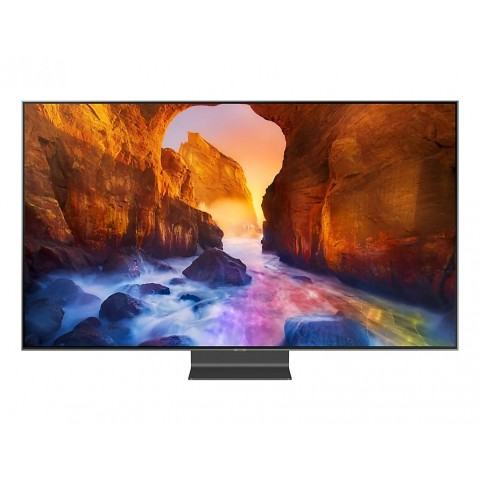 """TV 65"""" SAMSUNG QE65Q90RAT QLED Q90R 2019 4K ULTRA HD SMART WIFI 4000 PQI USB HDMI REFURBISHED CARBON SILVER"""