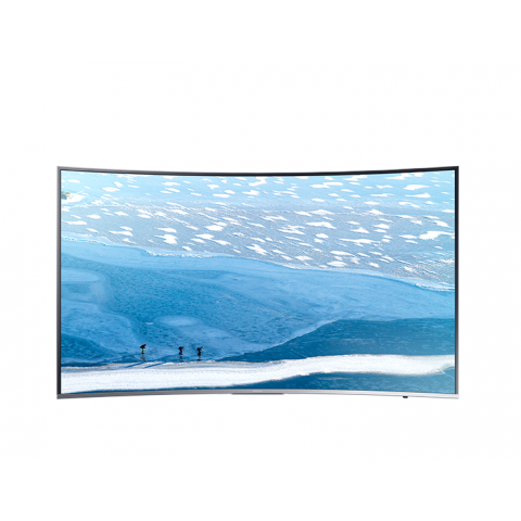 "TV 65"" SAMSUNG UE65KU6500 LED SERIE 6 CURVO 4K ULTRA HD SMART WIFI 1600 PQI HDMI USB SILVER REFURBISHED SENZA BASE CON STAFFA A MURO"