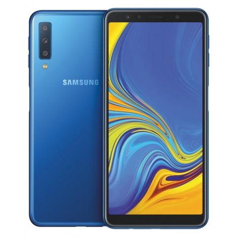 "SMARTPHONE SAMSUNG GALAXY A7 SM A750F (2018) DUAL SIM 64 GB OCTA CORE 6"" SUPER AMOLED 4G LTE WIFI BLUETOOTH TRIPLA FOTOCAMERA REFURBISHED BLU"