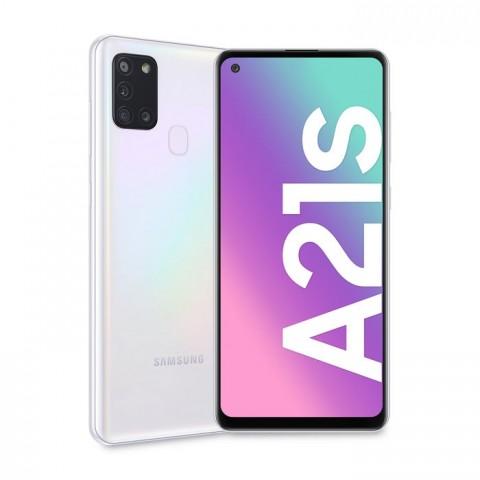 "SMARTPHONE SAMSUNG GALAXY A21s SM A217F DUAL SIM 32 GB OCTA CORE 6.5"" QUATTRO FOTOCAMERE 4G LTE WIFI BLUETOOTH REFURBISHED BIANCO"