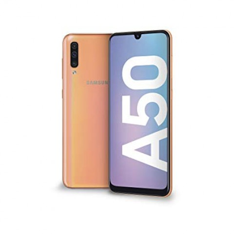 "SMARTPHONE SAMSUNG GALAXY A50 SM A505F DUAL SIM 128 GB OCTA CORE 6.4"" SUPER AMOLED 25 + 5 + 8 MP 4G LTE WIFI BLUETOOTH REFURBISHED CORAL"