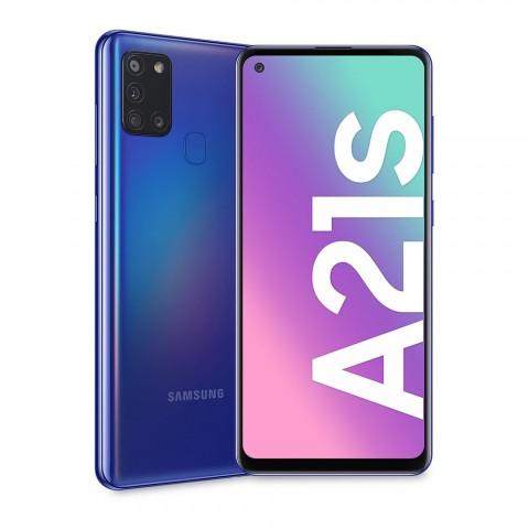 """SMARTPHONE SAMSUNG GALAXY A21s SM A217F DUAL SIM 32 GB OCTA CORE 6.5"""" QUATTRO FOTOCAMERE 4G LTE WIFI BLUETOOTH REFURBISHED BLU"""
