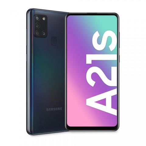 "SMARTPHONE SAMSUNG GALAXY A21s SM A217F DUAL SIM 32 GB OCTA CORE 6.5"" QUATTRO FOTOCAMERE 4G LTE WIFI BLUETOOTH REFURBISHED NERO"