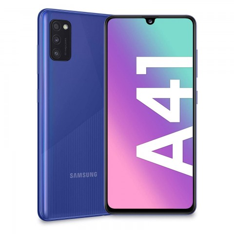 "SMARTPHONE SAMSUNG GALAXY A41 SM A415F DUAL SIM 64 GB OCTA CORE 6.1"" SUPER AMOLED 48 + 8 + 5 MP 4G LTE WIFI BLUETOOTH REFURBISHED PRISM CRUSH BLUE"