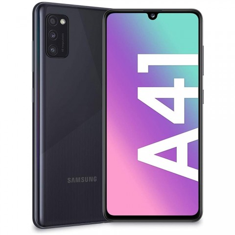 "SMARTPHONE SAMSUNG GALAXY A41 SM A415F DUAL SIM 64 GB OCTA CORE 6.1"" SUPER AMOLED 48 + 8 + 5 MP 4G LTE WIFI BLUETOOTH REFURBISHED PRISM CRUSH BLACK"