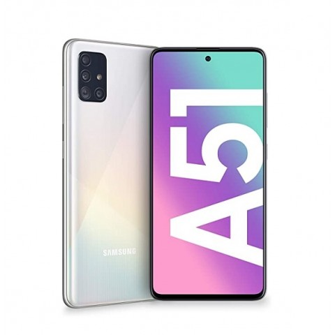 "SMARTPHONE SAMSUNG GALAXY A51 SM A515F 128 GB DUAL SIM OCTA CORE 6.5"" SUPER AMOLED 4G LTE WIFI BLUETOOTH 4 FOTOCAMERE REFURBISHED PRISM CRUSH WHITE"