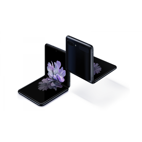 "SMARTPHONE SAMSUNG GALAXY Z FLIP SM F700F 256 GB DUAL SIM 6.7"" 4G LTE 12 + 12 MP OCTA CORE REFURBISHED MIRROR BLACK / NERO"