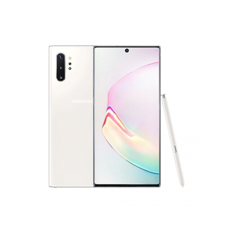 "SMARTPHONE SAMSUNG GALAXY NOTE 10 PLUS SM N975F DUAL SIM 6.8"" DYNAMIC AMOLED 256 GB OCTA CORE 4G LTE WIFI ANDROID REFURBISHED AURA WHITE"