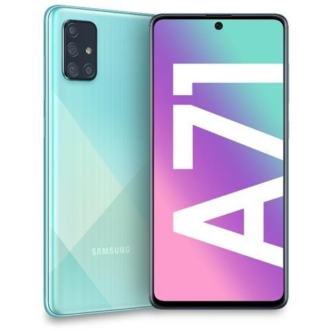 """SMARTPHONE SAMSUNG GALAXY A71 SM A715F 128 GB DUAL SIM OCTA CORE 6.7"""" SUPER AMOLED PLUS 4G LTE WIFI BLUETOOTH 4 FOTOCAMERE REFURBISHED PRISM CRUSH BLUE"""