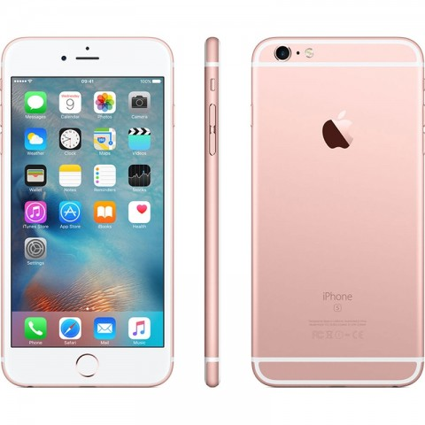 """SMARTPHONE APPLE IPHONE 6S PLUS 128 GB 5,5"""" 4G LTE CHIP A9 TOUCH ID IOS 9 12 MP REFURBISHED ORO ROSA"""
