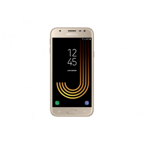 "SMARTPHONE SAMSUNG GALAXY J3 (2017) SM J330F 5"" SUPER AMOLED 16 GB QUAD CORE 4G LTE WIFI BLUETOOTH 13 MP ANDROID REFURBISHED GOLD"