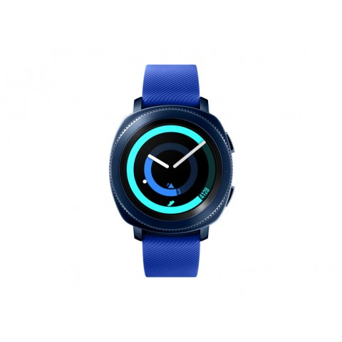 "SMARTWATCH SAMSUNG GALAXY GEAR SPORT SM R600 (TAGLIA S) 1.2"" SUPER AMOLED 4 GB 1 GHZ DUAL CORE BLUETOOTH REFURBISHED BLU"